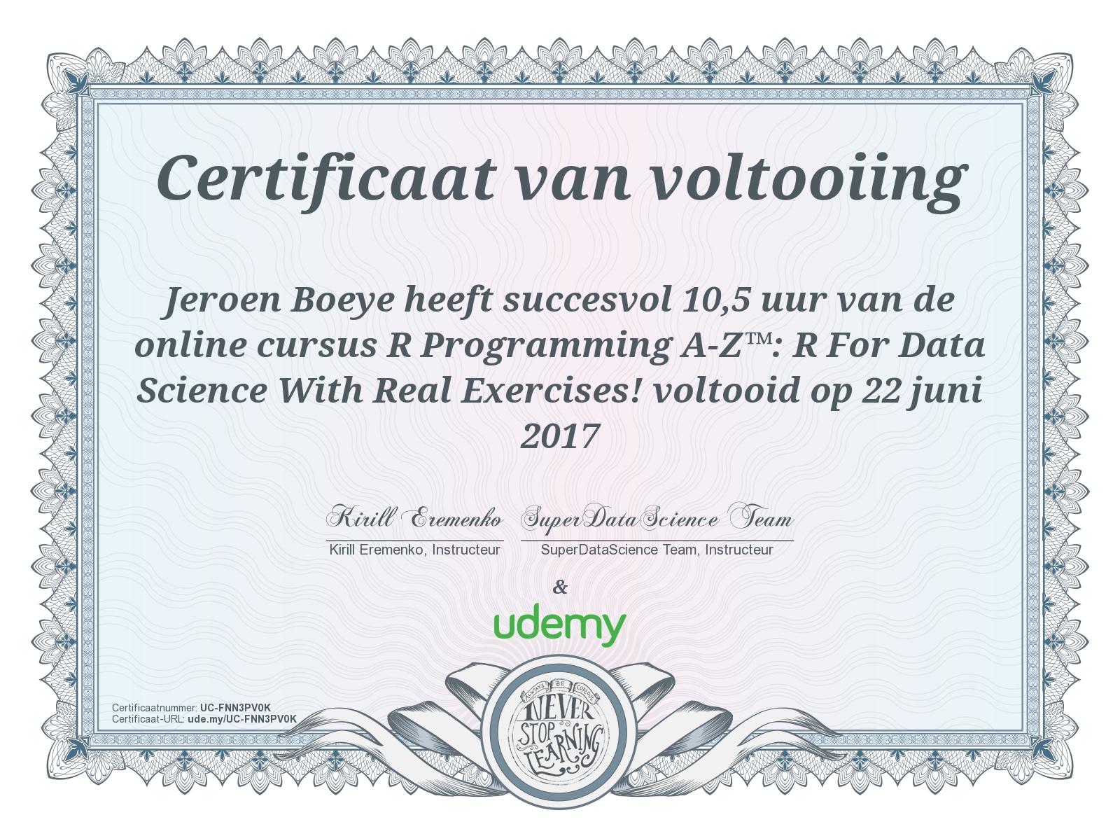 Resume - Jeroen Boeye